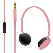 Hoomia U2NY-SAKURA On-Ear Stereo Headphone with Microphone, Sakura Pink