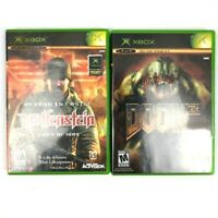 Lot of 2 Xbox Video Games - Wolfenstein and Doom 3