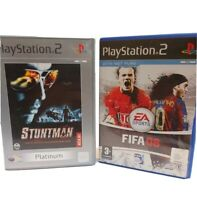 Playstation 2 games bundle kids. Stuntman platinum and FIFA 08 with net play ...
