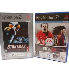 Playstation 2 Spielepaket Kinder. Stuntman Platinum und FIFA 08 mit Netz spielen...