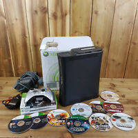 Xbox 360 Elite 120GB Console Bundle Boxed 12 Games Controller Leads Full Set Up