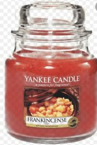 New Rare Yankee Candle Frankincense Medium Never Used Christmas