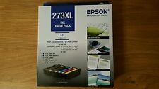 Original Brand New Genuine Epson 273XL High-Capacity 6 Ink Cartridges Value Pack