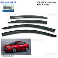 4Dr Black Rain Visor Weather Guards For Mazda2 Mazda 2 Sedan 2015 2016 Genuine
