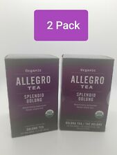 2 Pack Allegro Organic Tea Splendid Oolong 20 Tea Bags per box ,Best By 5/2/2021