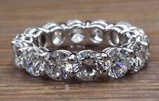 925 Sterling Silver 5mm Round Eternity Wedding Band Stunning Best Gift