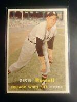 1957 TOPPS #221 Dixie Howell White Sox NmMt SHARP Well Centered High Grade