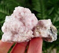 Amazing Rhodochrosite with Quartz from famous Eniovche Mine, Bulgaria, Crystal