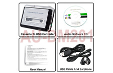 Cassette To USB Digital Audio Adapter- Converter Your Old Cassettes to MP3 WAVE
