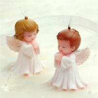 3D Angel Cake Candle Couple 2pcs Silicone Mold Party Decoration Handmade Molds