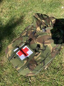 British Army Medical  Bergen ,bag Trauma Woodland , DPM Short Back