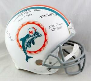 Larry Csonka Signed Dolphins F/S 72 TB Authentic Helmet w/ Multi Insc-JSA W Auth