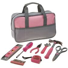 9 PIECE LADIES PINK HAND TOOL BAG Set Kit Girl Women Gift Assortment Mix Female