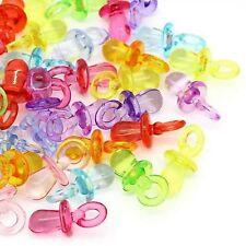 lot 20 breloques tétine totoche plastique translucide scrapbooking bijoux NEUF