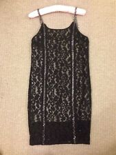 ALLSAINTS black laces Dress Size UK 8 US 4 EU New RRP £300