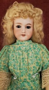 Antique German Bisque Armand Marseille 390 Doll Fully Jointed Body Large 26in.