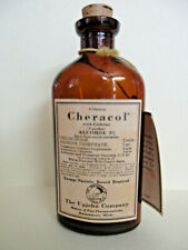 One (1) Vintage Reproduction Upjohn Company Cheracol Brown Bottle BG