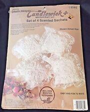 Vintage Candlewick Plus Needlecraft Kit 8365 Sachets Cross Stitch 1984 Unused