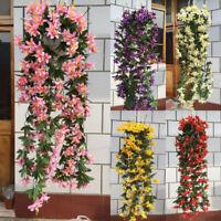 1 Bunch Lily Bracket Plant Hanging Garland Flowers Vine Home Wedding Xmas Hot