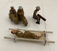 Barclay Mainoil Mototcycle w Sidecar / Machine Gun Solider / Wounded Soldier