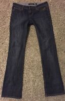 Ed Hardy by Christian Audigier Women's Jeans Size 27 Disttressed Stright Leg