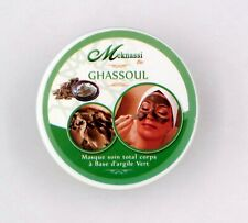 Masque Ghassoul d'Argile Vert Soin traditionnel du Maroc 100% Natural Clay Mask