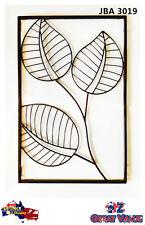 Modern Vintage Style Wall Art Mounted Home Decor Decorative Metal Leaf - Jba3019