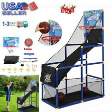 Kids Basketball Hoop System Stand With Net Children Basketball Circle Arcade Us