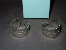 Collectable Prince Charles Highgrove Boxed Pair Of White Metal Napkin Rings