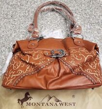 Montana West Purse New W/Tags Brown Buckle Bag