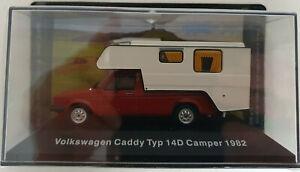 VW Collection Caddy Typ 14D Camper - 1982 - 1:43 - Altaya / IXO / DeAgostini