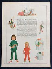 "Vintage Betsy McCall Mag. Paper Doll, Betsy Writes ""Dear Santa�, Dec. 1967"