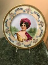 Royal Bayreuth Plate  Portrait of a  Lady, Intricate & Gold Gilt Trims,Signed