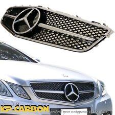 Fit Benz 2010-2013 W207 C207 E350 E500 SL Style Chrome Black Front Vent Grille
