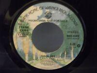 "Frank Zappa,WBS 8342, ""Disco Boy"",US,7"" 45, PROMO, 1976 psych rock, Mint-"