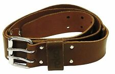 Double Pin 50mm Leather Belt - 68584 by Rolson
