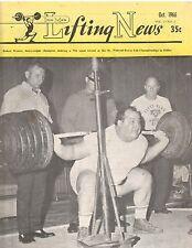 IronMan Lifting News Weightlifting Magazine/George Weaver 790 pound squat 10-66