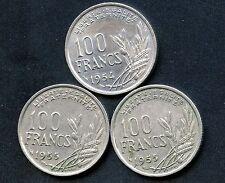 France 1954 1955 & 1955 100 Franc Coins