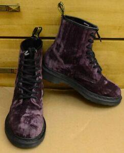 Dr. Martens Castel, Purple Velvet Shoes, Size UK 4, EU 37