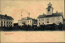 Hernösand Härnösand Schweden Sverige Ångermanland ~1900 Marktplatz Markt Gebäude