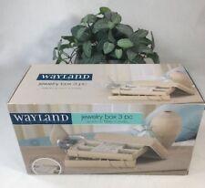"Wayland Square 3 Pc Jewelry Box, 10"" x 6"" x 4"", New in Box, Set of 3 piece"