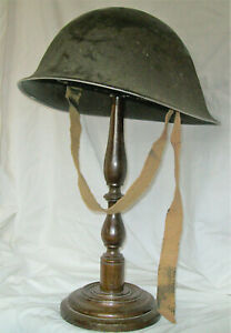 WW2 BRITISH / CANADIAN ARMY D-DAY HELMET, TURTLE MK 3. COMPLETE.