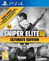 NEW & SEALED! Sniper Elite III (3) Ultimate Edition Sony Playstation PS4 Game
