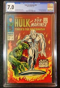 Tales to Astonish #93 CGC 7.0 💥 RARE WHITE PAGES 💥 1st Silver Surfer! 1967