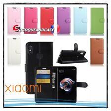 Etui coque housse Cuir PU Leather Wallet case cover XIAOMI Redmi Note 5 Pro Mi 8