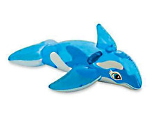 Baleine dauphin gonflable chevauchable 152x114cm bleu piscine mer