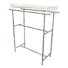 "48-72"" Double Parallel Bar TOP BASKET RACK Clothes Garment Retail Display Rack"