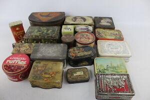 20 x Assorted Vintage ADVERTISING TINS Inc Decorative, OXO, Quality Street Etc