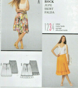 Burda 7530 Two Styles No Waistband Boho Layered or Ruffled Skirts Pattern 6-18