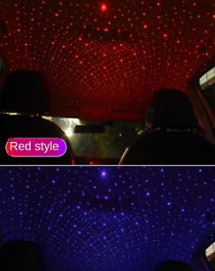 LED Car Roof Star Night Light Projector Atmosphere Galaxy Lamp USB Decorative